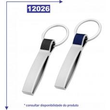 Chaveiro metálico, com abridor de garrafa 12026