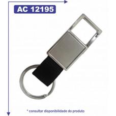 Chaveiro retangular personalizado de metal 12195