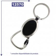 Chaveiro de metal personalizado, com detalhe espelhado nas duas faces 12570